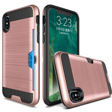 ShockProof Hybrid Armor Case For iPhone 7 6 6S Plus 8 5 5S SE Credit Card Holder Slot For iPhone X XS MAX XR 8 Phone Cover Capa цена и фото