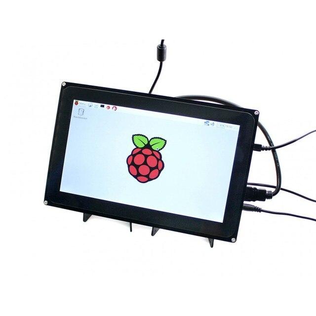Модуль Waveshare 10.1 hdmi-дюймовый ЖК-(H) (с корпусом) емкостный Сенсорный Дисплей для Raspberry Pi B + 2 B/3 B и BB Черный Видео