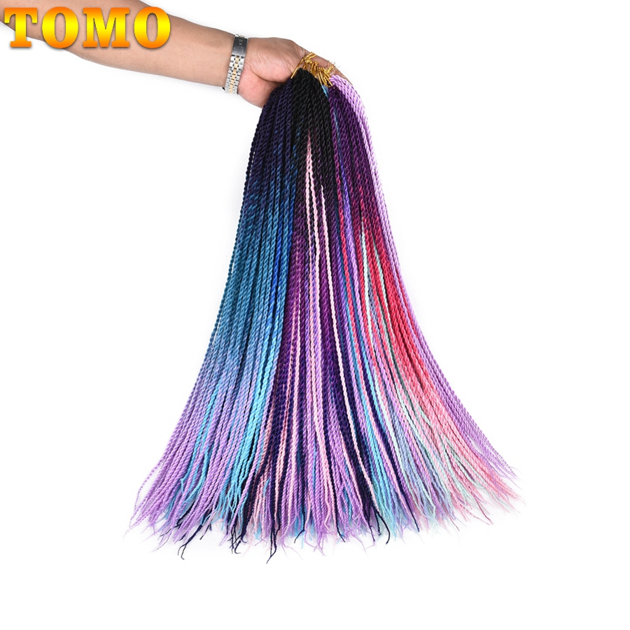 Hot Sale Tomo 24inch 30roots Small Crochet Braids Hair Senegalese