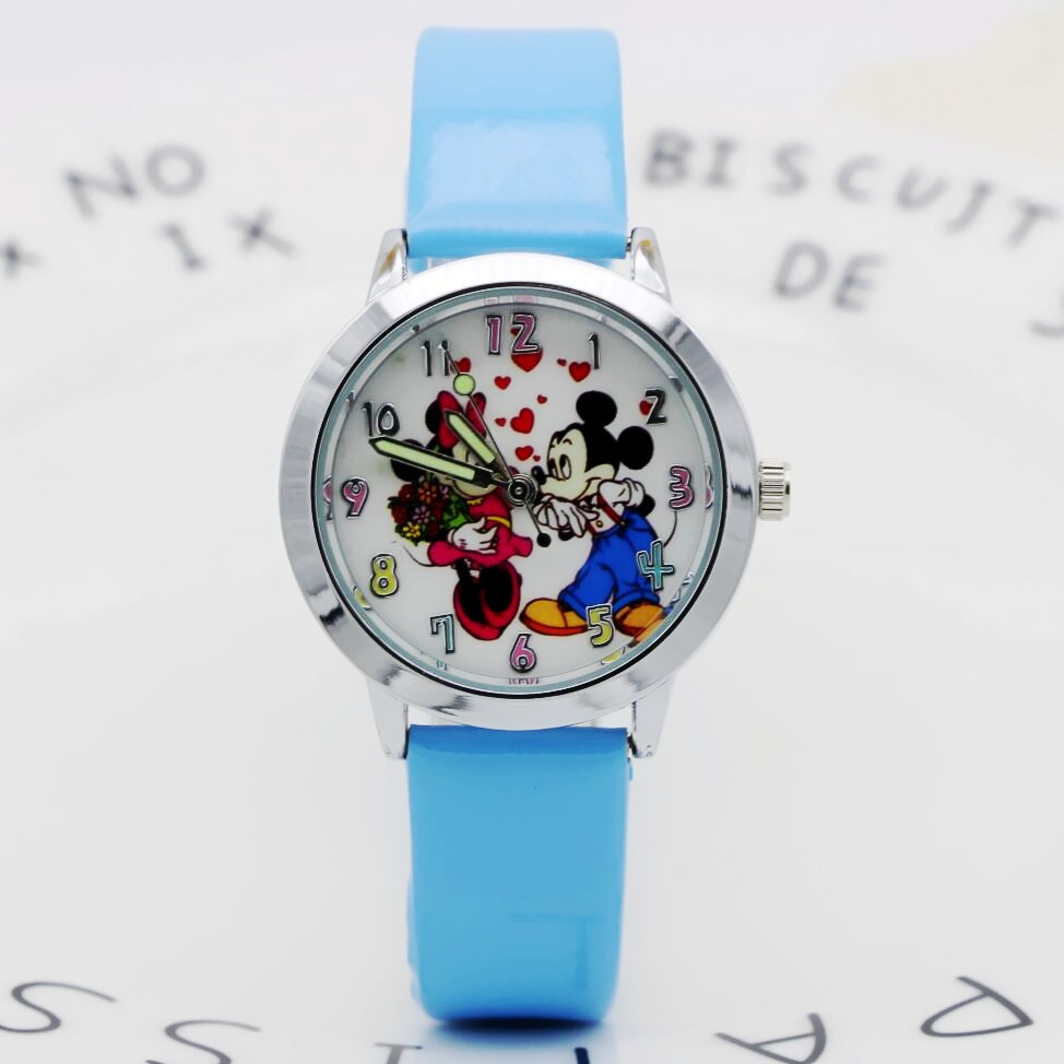Cartoon Mickey Minnie Children Watch Kids Watches Leather Baby Boys Girls Watch Cute Dial Clock Relogio Infantil Relojes New