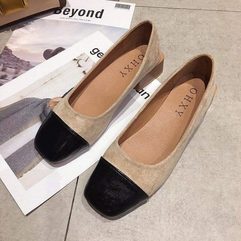 Nouvelle 2019 Sauvage Simples Noir Printemps Décontractées brown Léopard Rétro Simple Mode Confortable Chaussures leopard Couture Femmes Style r65w6q7O