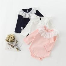 SOIFORM 2019 Baby Girls Ruffles Romper Spring Cotton Cute
