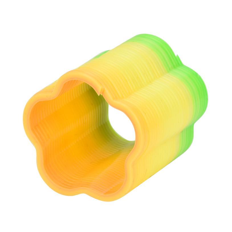 Jumbo Slow Rising Cute Soft Mini Magic Rainbow Springs Circles Slinky Kill Time Rainbow Spring Slinky Toy Jan4