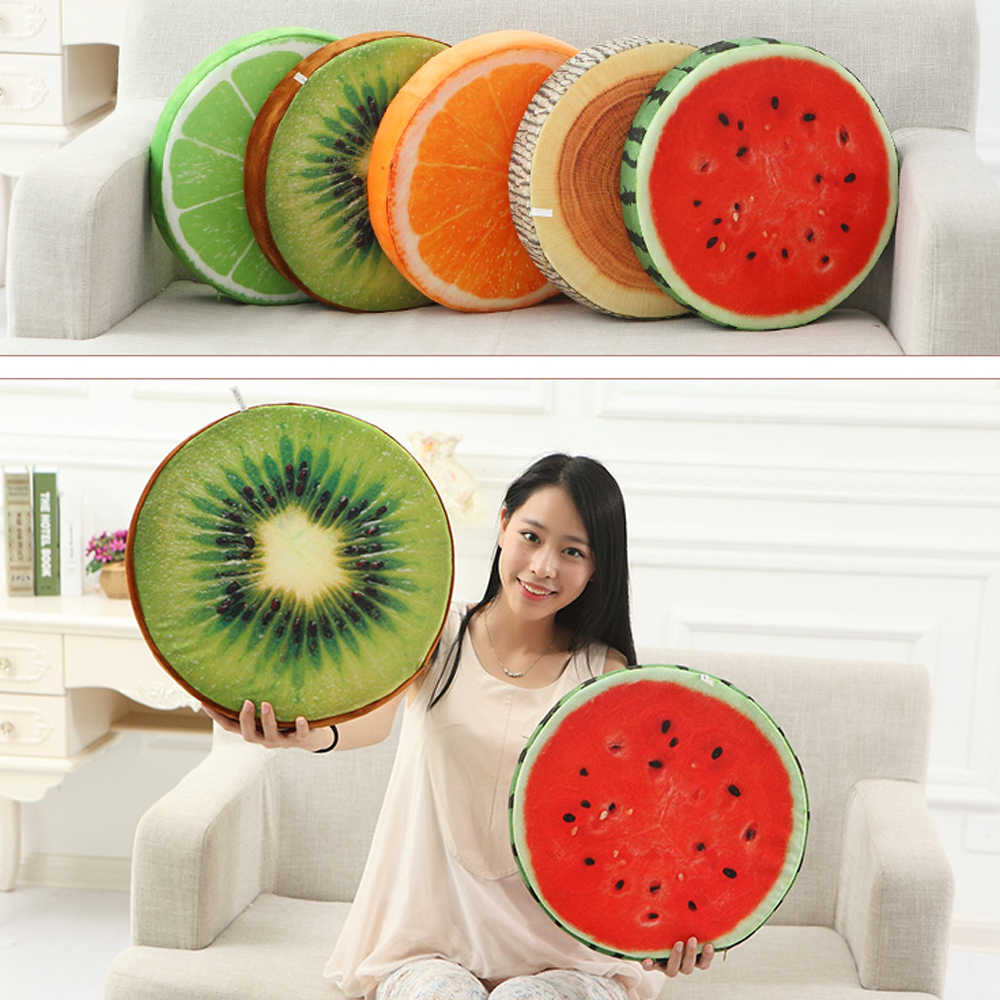 Toy Throw Pillow 3D Summer Fruit Cotton Back Cushion Sofa Chair Home Decoration