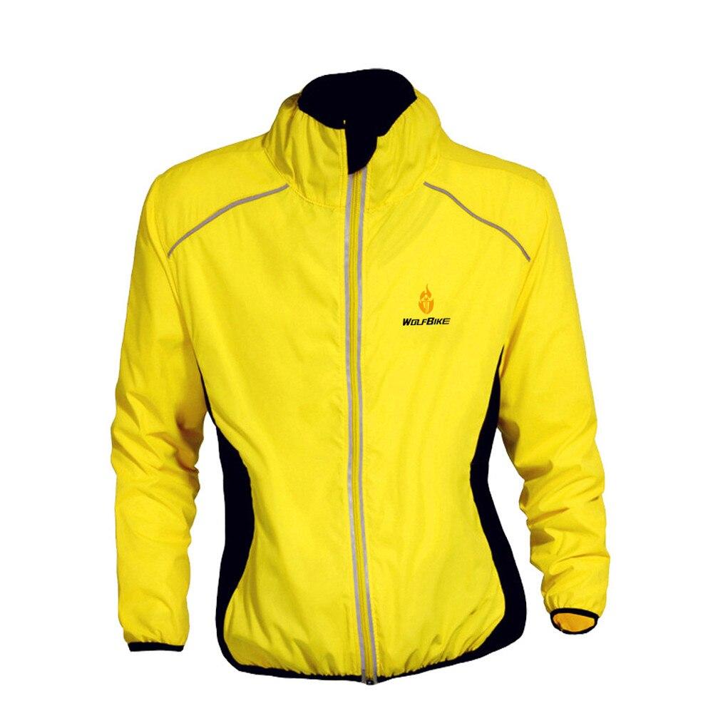 Цена за WOLFBIKE Тур де Франс Велоспорт Пальто С Длинным Рукавом Джерси Профессиональный Бурелом Рубашки Куртка Велосипед Цикл Износ Черный