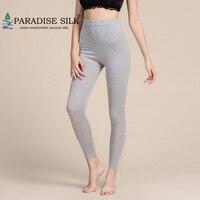 Wool Long Pants Women's Silk Cashmere Blend Under Pants Bottom Leggings Winter Female Size L XL XXL