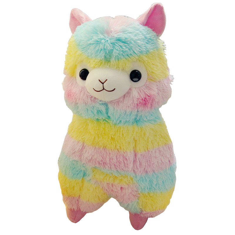 Kawaii Rainbow Color Alpaca Soft Plush Toys Stuffed Animals Alpacasso Sheep Doll for Kids/Lovers Toys Gift Peluche Sofa Pillow wifi biometric face time attendance and access control system iface302 wifi communication fingerprint wifi terminal