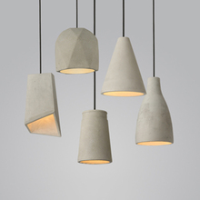 Nordic Loft Simple Creative Cement Light Pendant Modern LED Hanging Lamps Living Room Restaurant Coffee Decor Lighting Luminaire t simple crystal fashion pendant light for dinging room home indoor lighting modern creative led chip lamps bar coffee shop