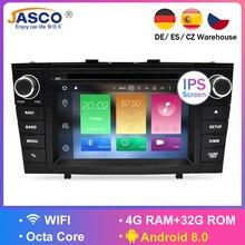 7 «4G для Toyota Avensis 2009-2015 Оперативная память Android 8,0 автомобильный DVD стерео мультимедийная Главная панель автоматическое радио GPS навигации аудио-видео
