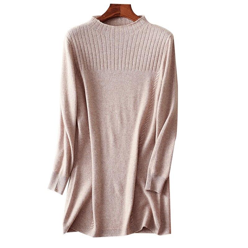 wholesale dealer ce858 5db34 Frauen Lange Cashmere Pullover Herbst Winter 2017 Mode ...