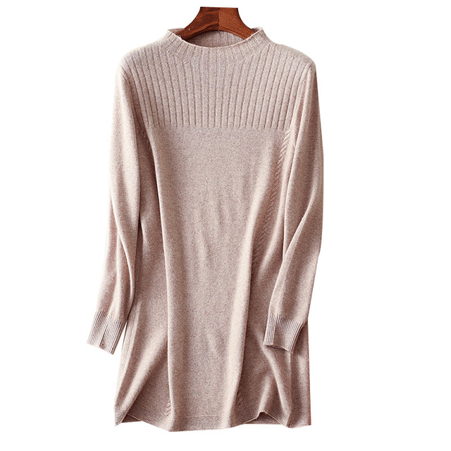 Women Long Cashmere Sweater Autumn Winter 2017 Fashion Turtleneck ...