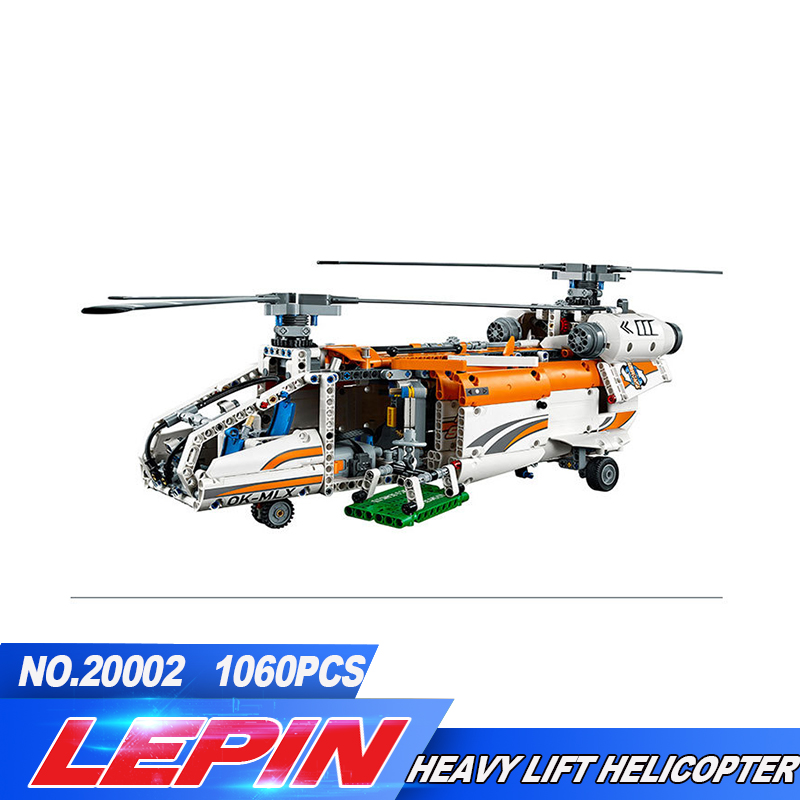 New lepin 20002 technology series mechanical group high load helicopter blocks Compatible With 42052 Boy assembling toys new lepin 20002 technology series mechanical group high load helicopter blocks compatible with 42052 boy assembling toys