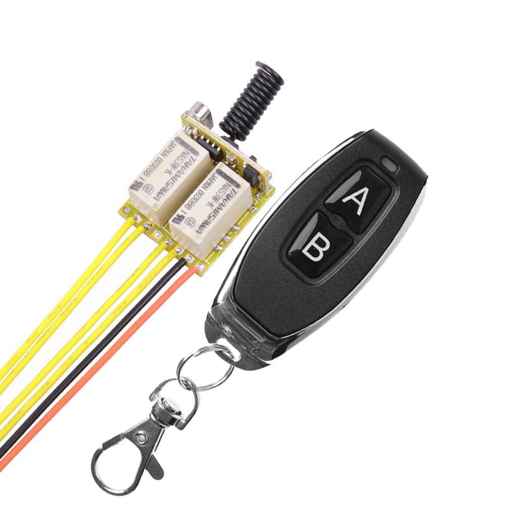 433mhz LED Mini Drahtlose Fernbedienung Schalter mit Relais Empfängermodul