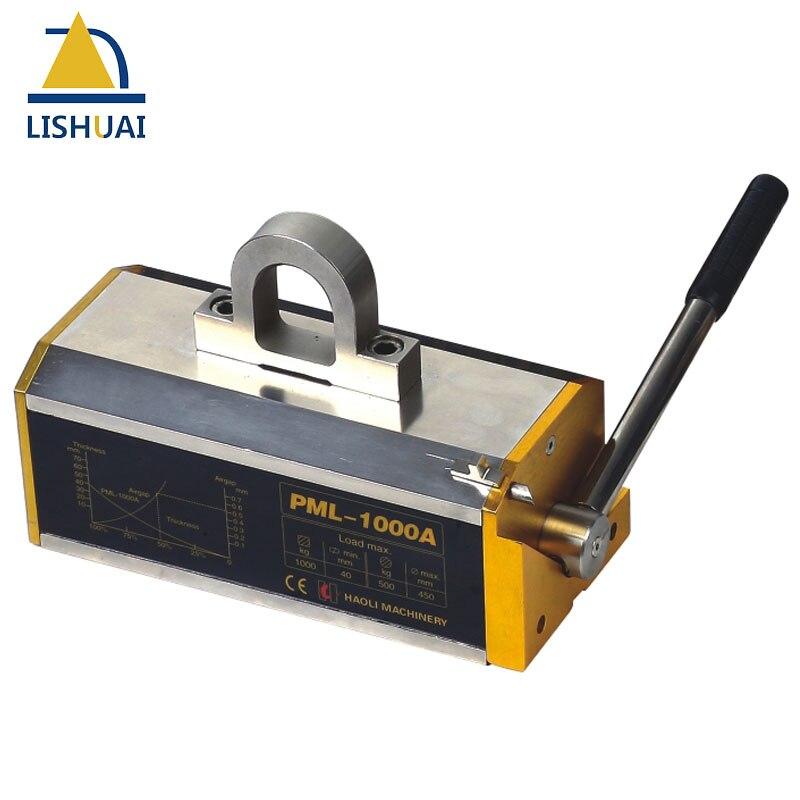 LISHUAI 1000 KG (2200Lbs) poussoir magnétique Permanent/aimant de levage Permanent pour plaque d'acier avec PML-1000 certifié CE