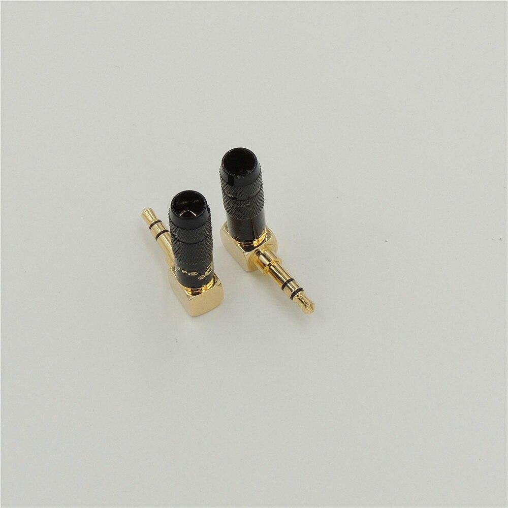 5pcslot Right Angle 3 5mm 3 Pole Stereo Audio Male Plug