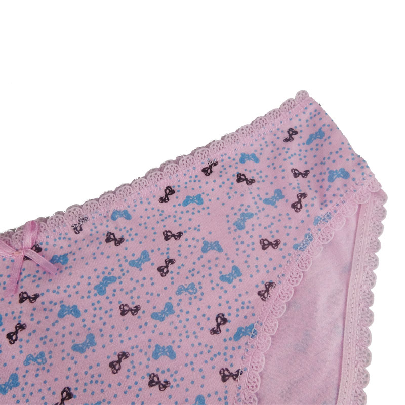 Prettywowgo 2018 New Arrival Good Quality 6 Color Floral Printed Women Cotton Panties 2009