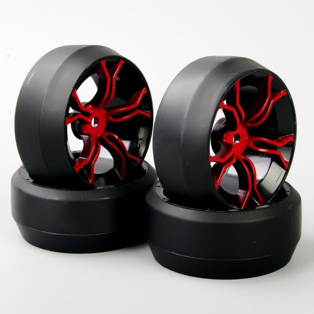(Only $0.01 Profit ) 4 Pcs/Set 12 mm Hex RC 1/10 Drift Wheels Car On Road Wheel Rim Rubber Tyre Tires Fit HSP HPI Car Parts A