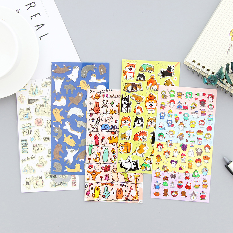 3 pcs/Lot animal Dog and cat sticker Japanese Doge Kawaii decorative tape for notebook scrapbooking Stationery school supplies