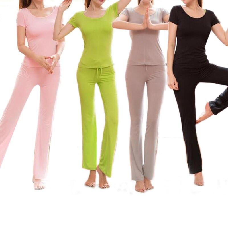 CALOFE Women 3piece Yoga Set Short Sleeve T-shirt White Sports Bra High Waist Pants Fitness Sportswear Soft Modal Sport Suit Z25