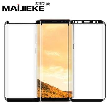 MAIJIEKE La pegamento para Samsung Galaxy Nota 9 de vidrio templado para Samsung Galaxy S8 S9 Plus Nota 8 de vidrio Protector de pantalla del teléfono