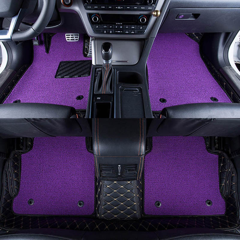Car Floor Mats Covers grade anti-scratch fire resistant durable waterproof 6D leather mat for BMW 1 3 5 Series X1 X3 X4 X5 X6