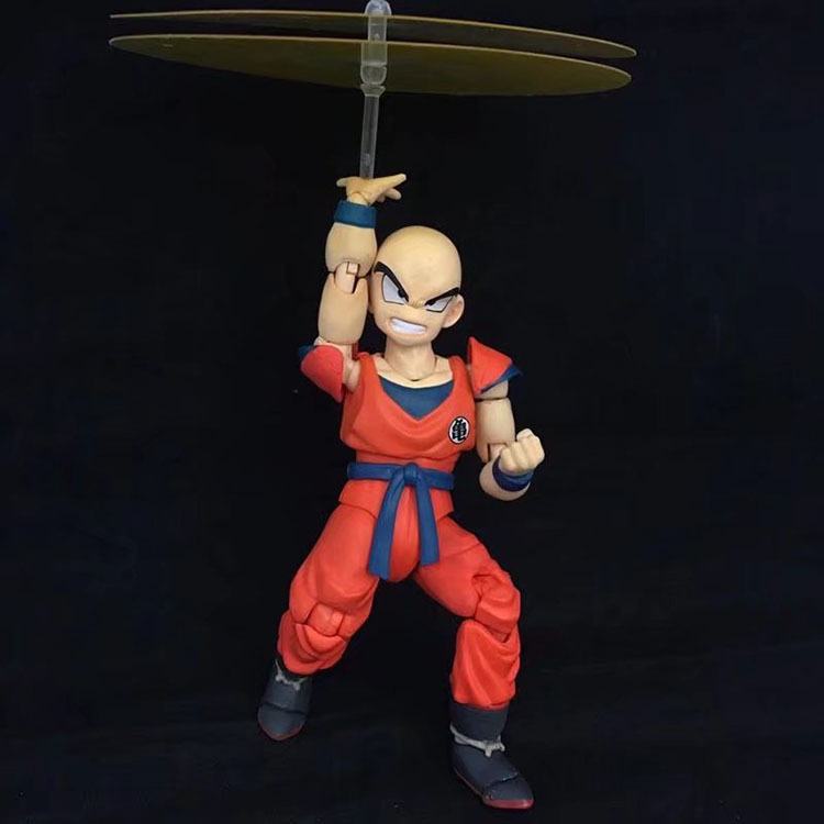 12CM Japanese anime figure dragon ball Krillin action figure movable collectible model toys for boys 8pcs set anime how to train your dragon 2 action figure toys night fury toothless gronckle deadly nadder dragon toys for boys