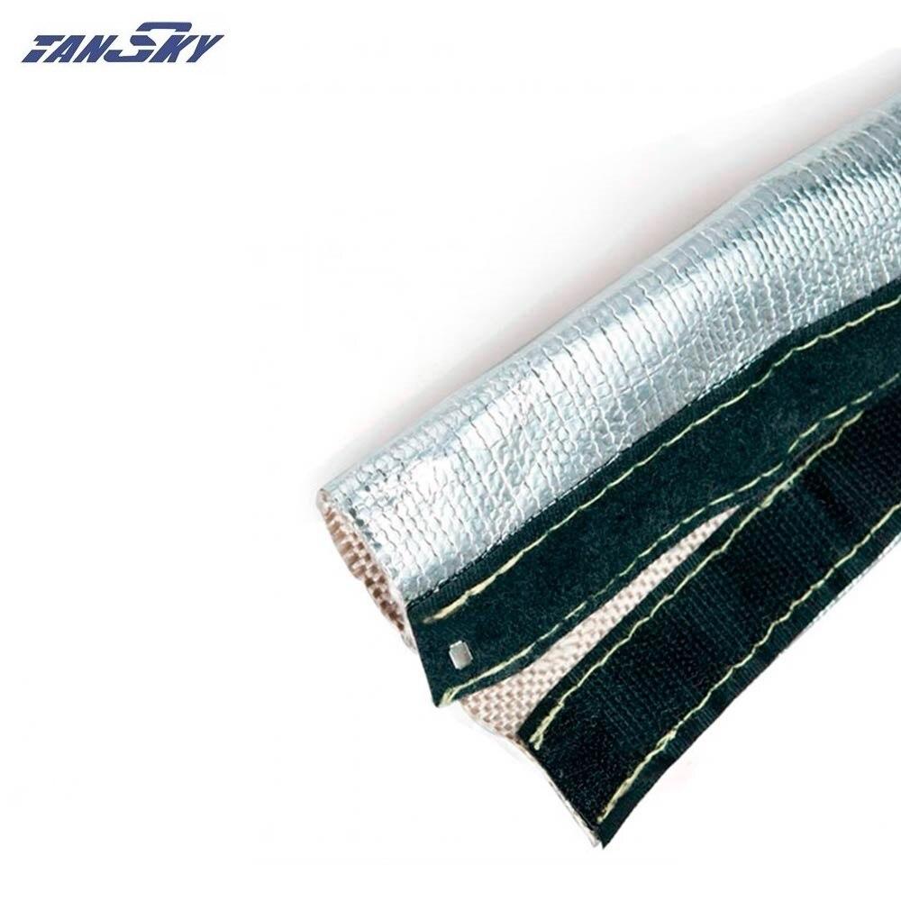 1 M Fuego de llama THERMO manga escudo de calor para Manguera de combustible 12 mm ID plata