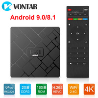 Android 9.0 Smart TV Box Android 8.1 2GB 16GB RK3229 Quad Core HK1 mini 2.4G Wifi H.265 4K HD Google Player HK1mini Set Top Box