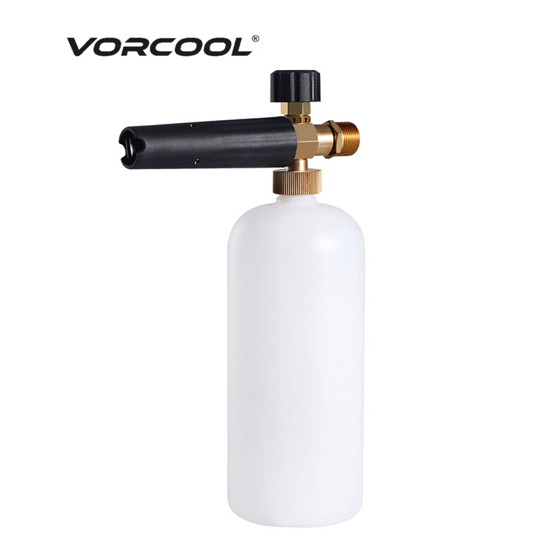 цена на VORCOOL Car Jet Wash Gun Quick Release Adjustable Snow Foam Nozzle Cannon High Pressure Gun for 12mm Nilfisk Stihlep Washer Car