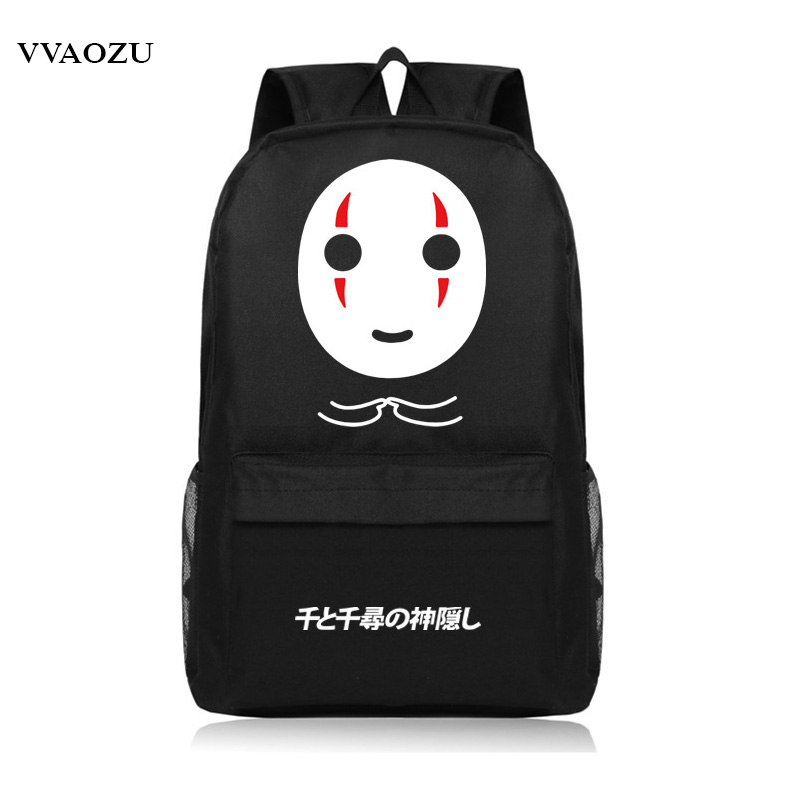 Spirited Away No Face Man Anime Cosplay Backpack Cartoon Oxford Luminous Schoolbag Unisex Mochila Shoulder Bags japan anime tokyo ghoul cosplay shoulders bag backpack cartoon schoolbag mochila unisex casual travel bags