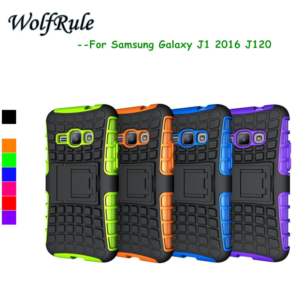 WolfRule For Samsung Galaxy J1 2016 Cover Shockproof TPU + PC Case For Samsung Galaxy J1 2016 Case For Samsung J1 2016 J120F #<