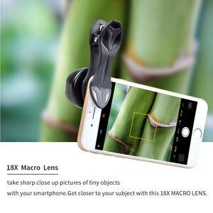 Image 5 - APEXEL 18X Macro Ống Kính Chuyên Nghiệp Siêu Macro Điện Thoại Di Động Máy Ảnh Ống Kính cho iPhone Samsung Xiaomi HTC với Phổ Clip