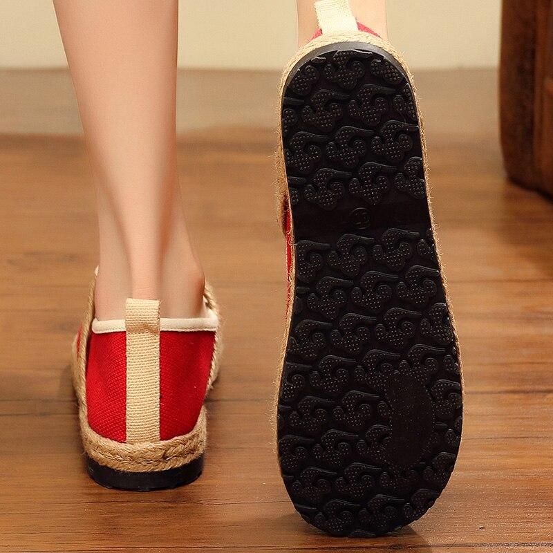 Coton Collège cousu Vent De Nouveau en Visage Assortis Lin Tissu Et Couvre Chaussures chaussures Femmes Main Automne Couleur ZuOTkiwPX