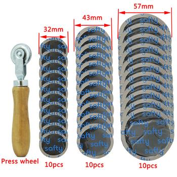 Narzędzie do naprawy opon gumowa łatka samochody i motocykle rower każdy pakiet więcej niż 30 32mm 43mm Plus 57mm tanie i dobre opinie MANMAN CN (pochodzenie) 1100cm³ Narzędzia do naprawy opon 200g Tire repair Metal and rubber Tyre repair material 32mm 43mm 57mm