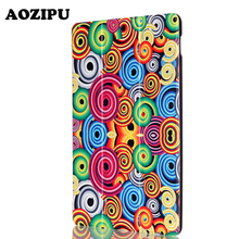Print Good Magnet Protecting Stand Cowl for Huawei Mediapad M2 801W/803L 8inch Pill PU Leather-based Funda Case