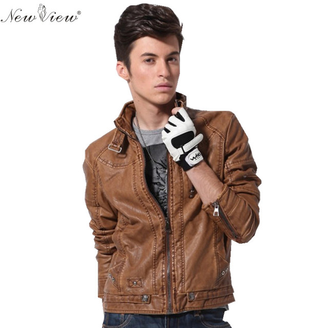 2017 Leather Coat Chaqueta Jaqueta Couro Masculino Bomber Men Leather Jackets For Motorcycle Jackets Jaqueta De couro Masculina