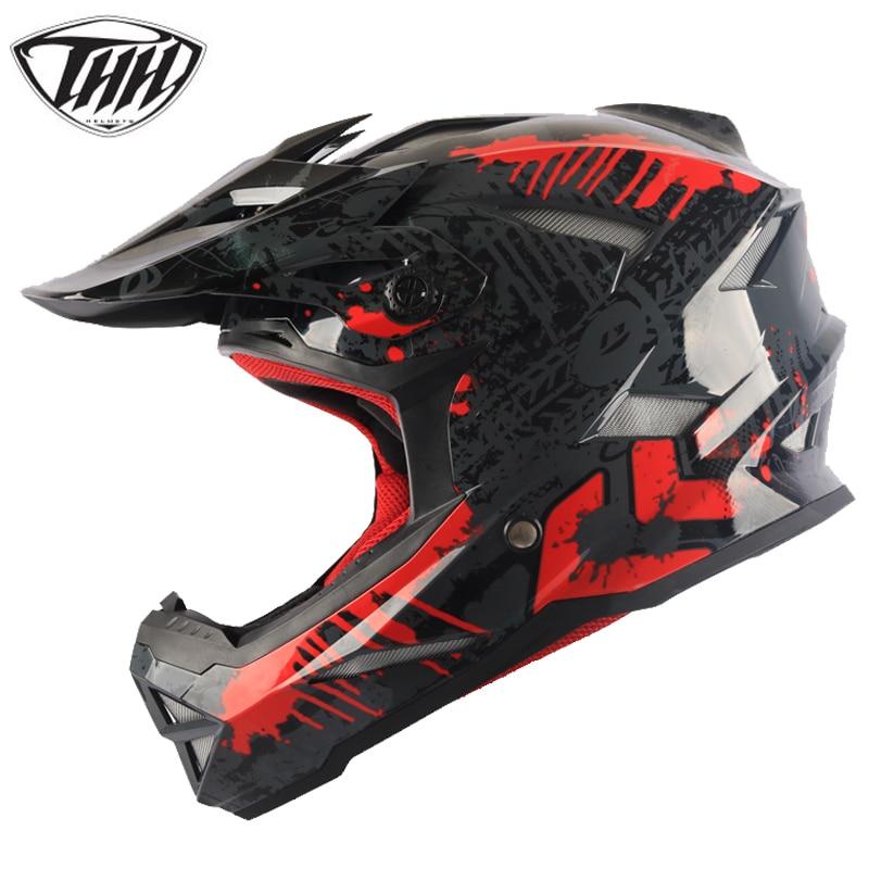 THH casque de course Moto Moto route descente VTT Motocross moteur vtt course MX casques Casco Moto