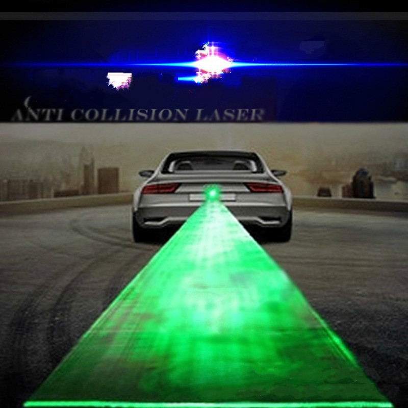 Universal LED Voiture Camion Moto Laser Feux de Brouillard Avertissement Anti-collision lumières Freins De Voiture Parking lumière Vert