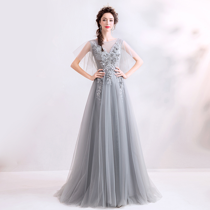 LPTUTTI Beading Appliques New For Women Elegant Date Ceremony Party Prom Gown Formal Gala Events Luxury Long   Evening     Dresses