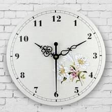 Абсолютно бесшумный спальня декор настенные часы в средиземноморском стиле украшения дома настенные часы водонепроницаемый циферблат настенные декора часы