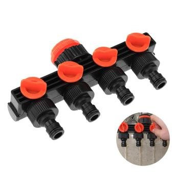 4 Way Faucet Connectors Hose Pipe Splitter Plastic Drip Irrigation Water Connector Garden Sprinklers Watering Kits