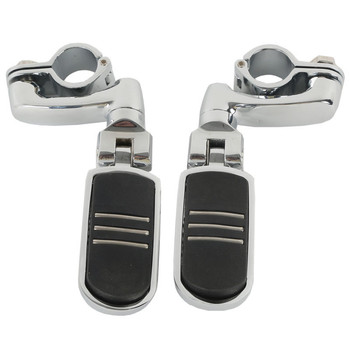 """Motorcycle 1 1/4"""" 32mm Highway Engine Guard Foot Peg Mounts Clamps For Harley New Left Right 3 style Accessories"""