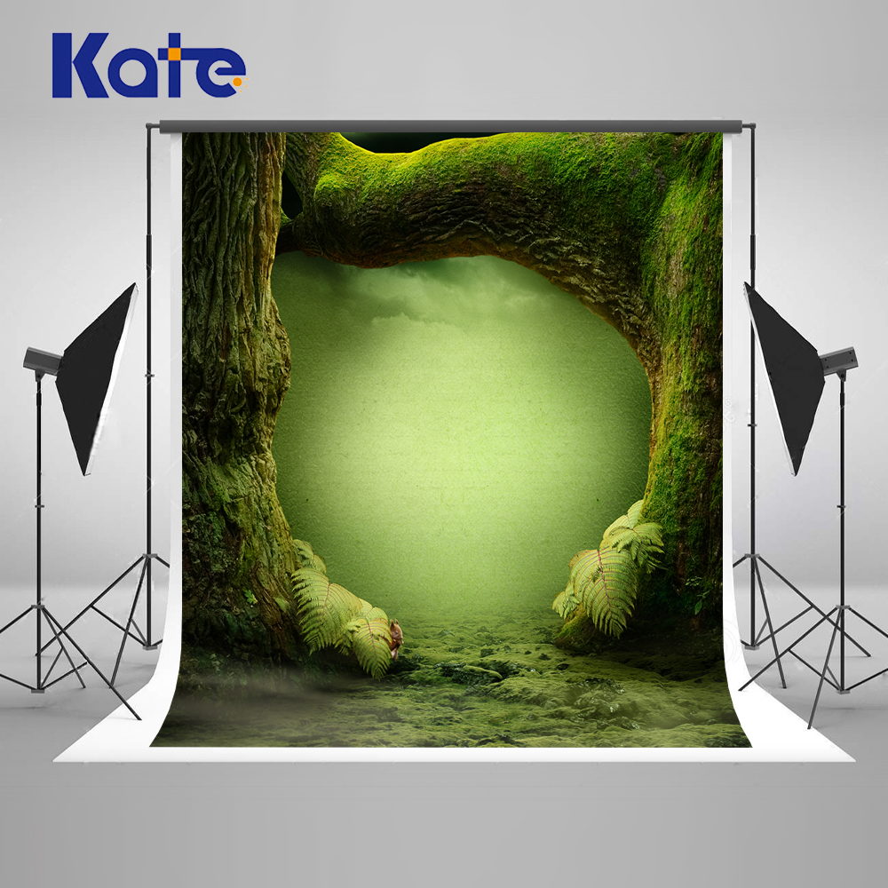 Kate Green Forest Fantasy Photography Backdrop Tree Hole Wonderland Children Backdrop Wall Photo Studio Baby Studio Background allenjoy backdrop background wonderland