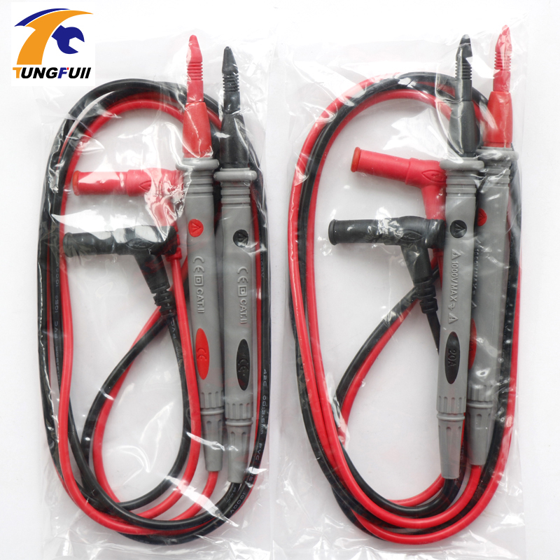 Tungfull Multimetros Multimeter Test Leads Probes Cooper Wires Test Lead Wire Probe Cable For AC DC LCD Digital Multimeters