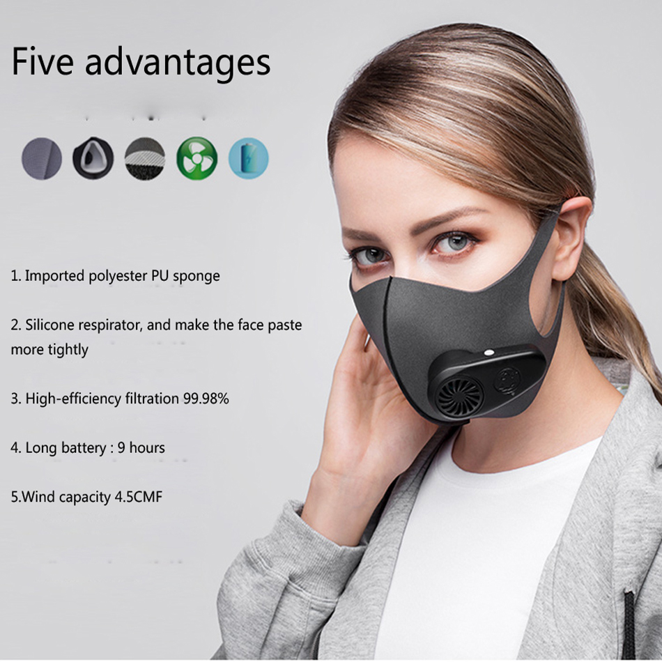 1 Pc Black Health Cycling Anti-Dust Mouth Face Mask Respirator Unisex Mouth Face Masks Fitness Mask black cotton yarn mouth face mask windproof anti dust cycling muffle respirator mask anti dust wearing respirator