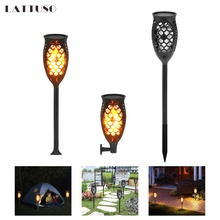 LATTUSO LED Solar Flame Flickering Lawn Lamps Led Torch Light Realistic Dancing Flame Light IP65 Outdoor Garden Decor Flame Lamp недорого