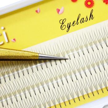 Kimcci 120 Bundles Natural 3D Individual Eyelashes Extension Grafting Soft Mink Eyelash Makeup Black False Eye Lashes Cilias