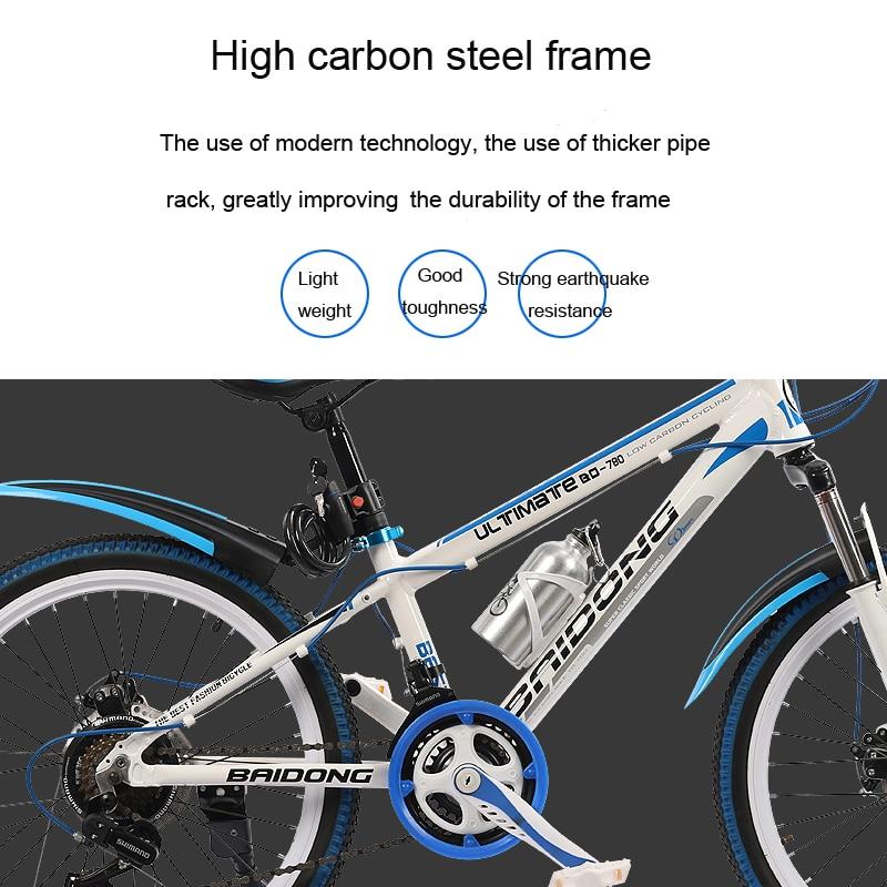 HTB1XtLuXFGWBuNjy0Fbq6z4sXXaZ 20/22/24/26inch bike 21/24/27speed variable speed mountain bicycle multicolor wheel mountain bike Double disc brake bicycle