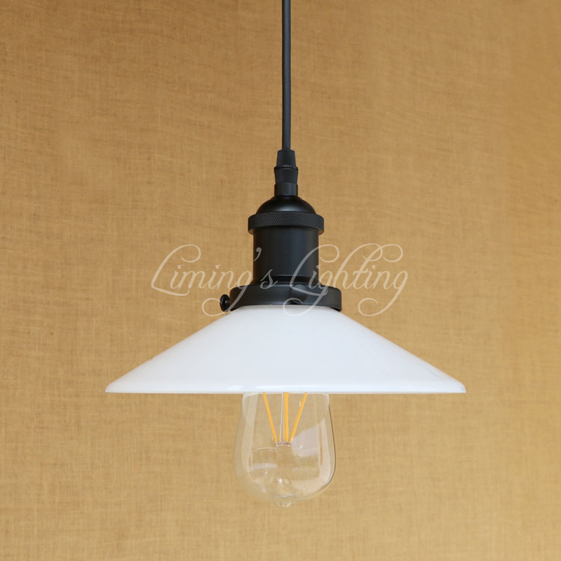 Modern white glass pendant lamp classic hanging LED E27 light American Loft style bar/restaurant living room lighting fixture modern pendant lights spherical design white aluminum pendant lamp restaurant bar coffee living room led hanging lamp fixture