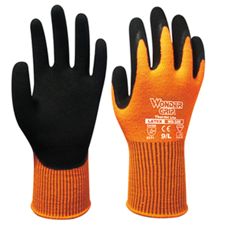 Wonder Grip320 Safety Work Gloves2231 Latex Double Palm Coating Gloves Cold Resist Warm Cold-proof Winter Protection Antiskid